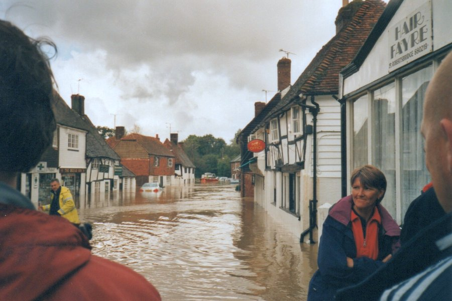 The flooded High Street