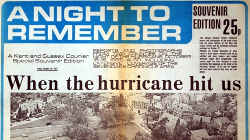 Hurricane newspaper report